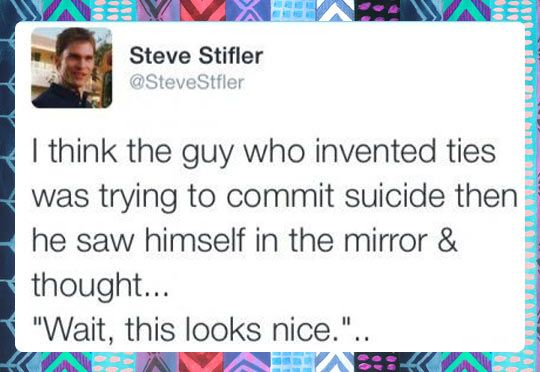 The Guy Who Invented Tiesツ #Humor #Funny #Lol