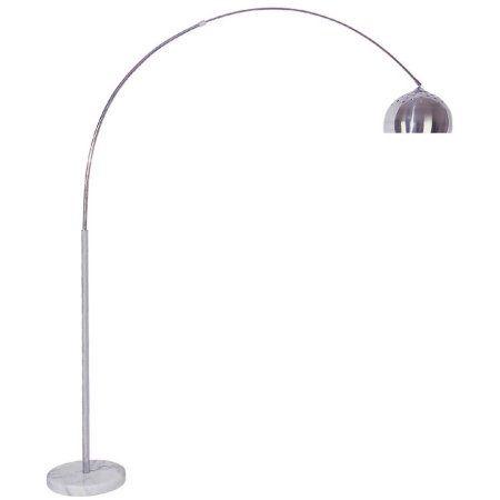ORE International 85 inch Arch Floor Lamp, Chrome, Silver