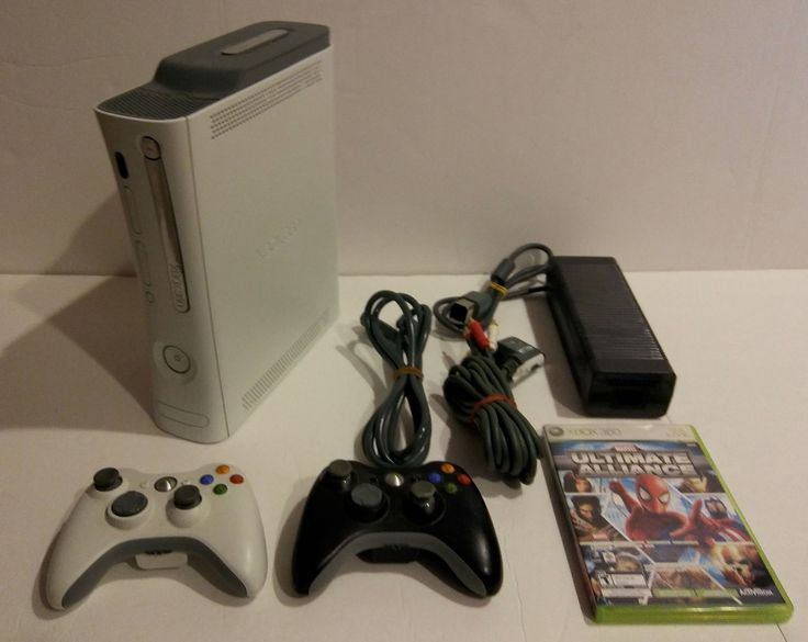 Xbox 360 White 20GB Console With HDMI Out + 2 Wireless Controllers - FREE SHIP! #Microsoft