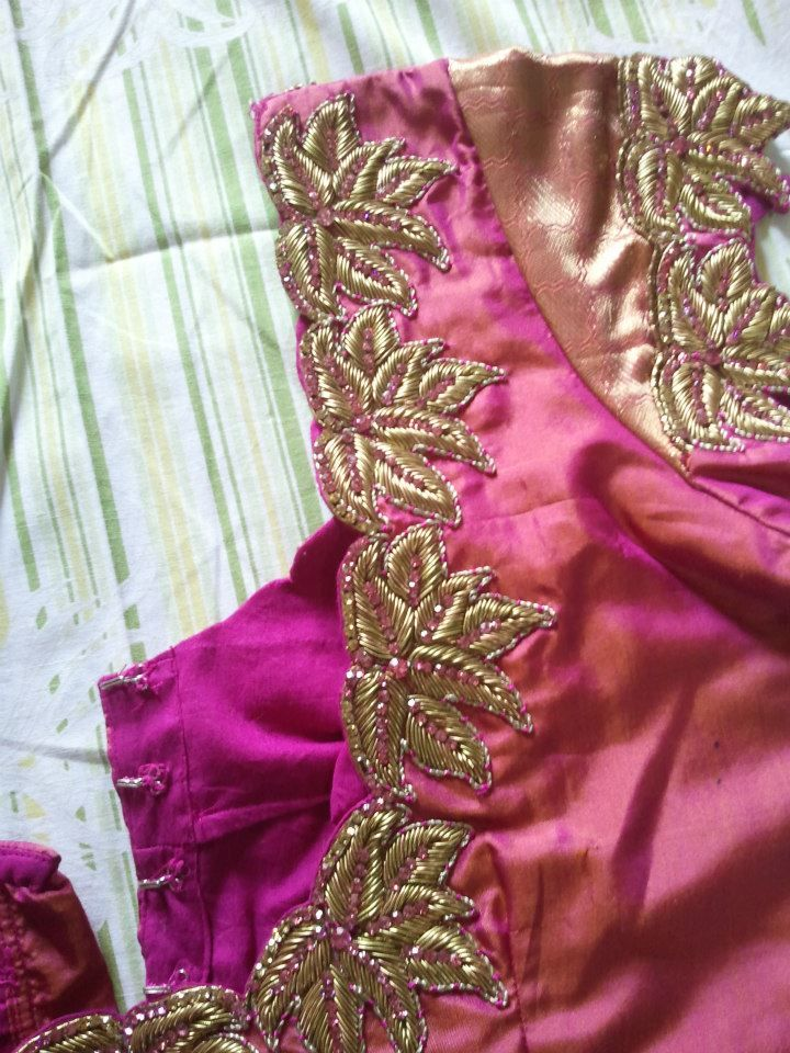 Sparkling Fashion: New Maggam work blouses