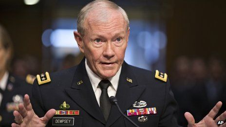 Martin Dempsey outlines possible courses of action in Syria
