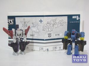 Transformers Cybertron Mini-con Ramjet vs Scythe