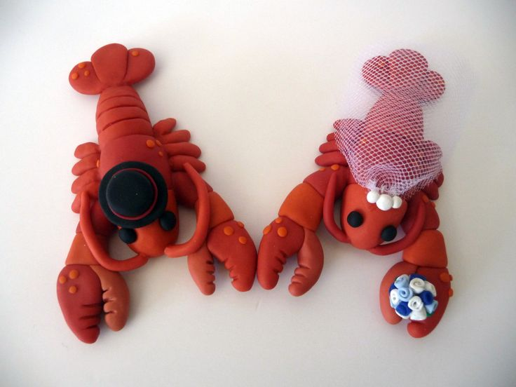 Lobster Wedding Cake Topper Choose Your Colors by topofthecake. $50.00 USD, via Etsy.