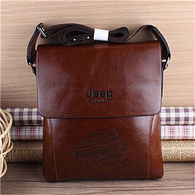Bag men 2016 famous brands JEEP men messenger bags PU leather bag briefcase designer high quality shoulder bag for man