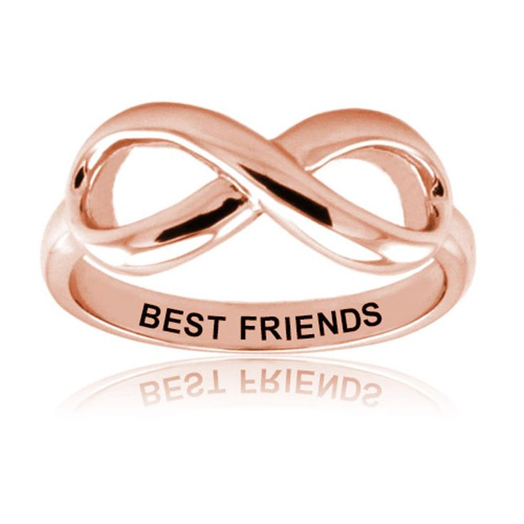 Sterling Silver Rose Gold Plated Best Friends Infinity Ring, Size 7.5 *** Details can be found by clicking on the image. (This is an Amazon Affiliate link and I receive a commission for the sales)