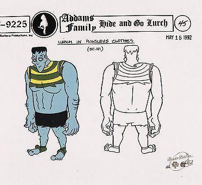 Addams Family Lurch Production Animation Art Model Ce Hanna Barbera Seal COA