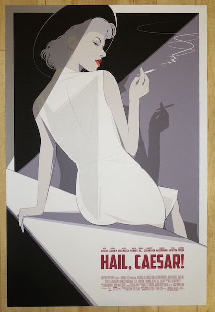 """Hail, Caesar! - silkscreen concert poster (click image for more detail) Artist: Craig Drake Venue: n/a Location: n/a Date: n/a Size: 24"""" x 36"""" Edition: 100; numbered only Condition: Mint Notes: number"""