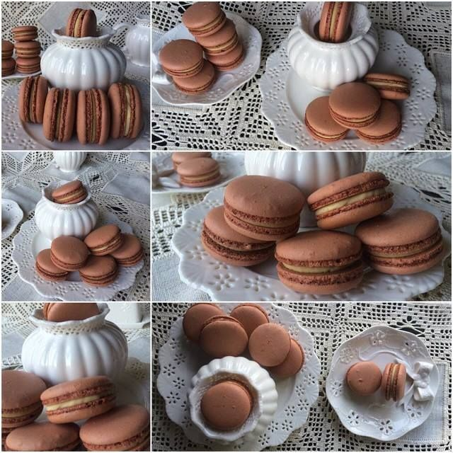 Cookie Butter Brown Macarons <3 See More Cute Macaron Ideas at CarlasCakesOnline.com