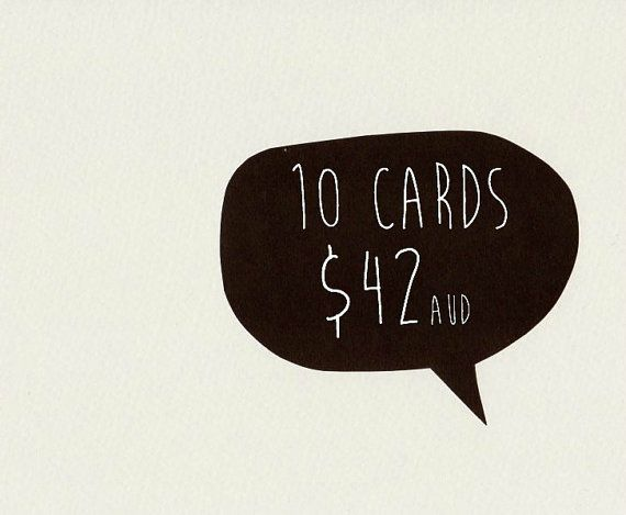10 CARDS . choose 10 cards . greeting card . by ThePaisleyFive