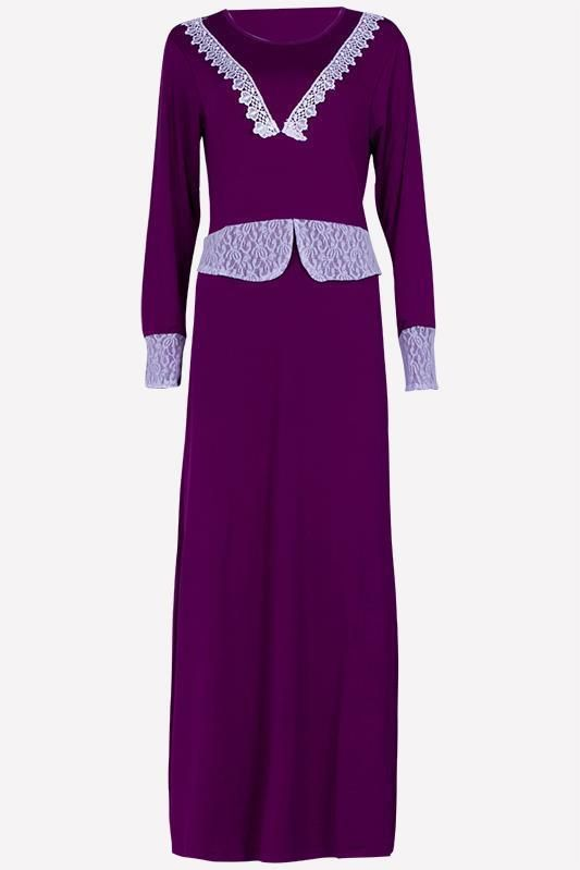 New Dubai Women Full Sleeve Maxi Jersey Abaya Farasha Dress Top Kaftan Jilbab #Zafirah