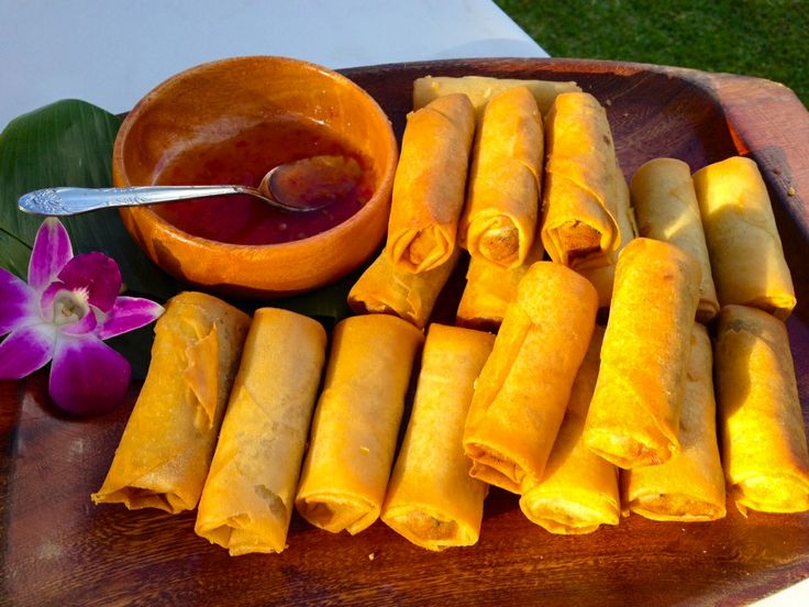 Spring Rolls Cateringconnection Hawaii Oahu Wedding