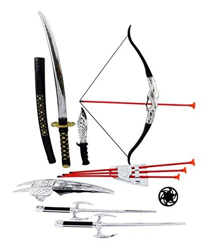 Ninja Warrior Bow  Arrow Archery Set for Kids with Katana Sword and Toy Weapons *** Details can be found by clicking on the image.
