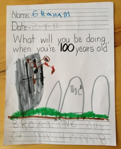 Awesome kid drawing and humor!: Laughing, 100Th Day, Funny Stuff, Humor, Smart Kids, So Funny, Funnystuff, Zombies, 100 Years
