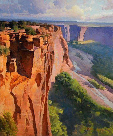 "Calvin Liang   ""Overlook in Canyon de Chelly""    24x20                  LAGUNA PLEIN AIR PAINTERS ASSOCIATION"