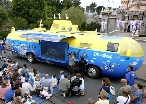 Disneyland sends out its Nemo Dream Mobile to promote its Finding Nemo Submarine Voyage ride this summer