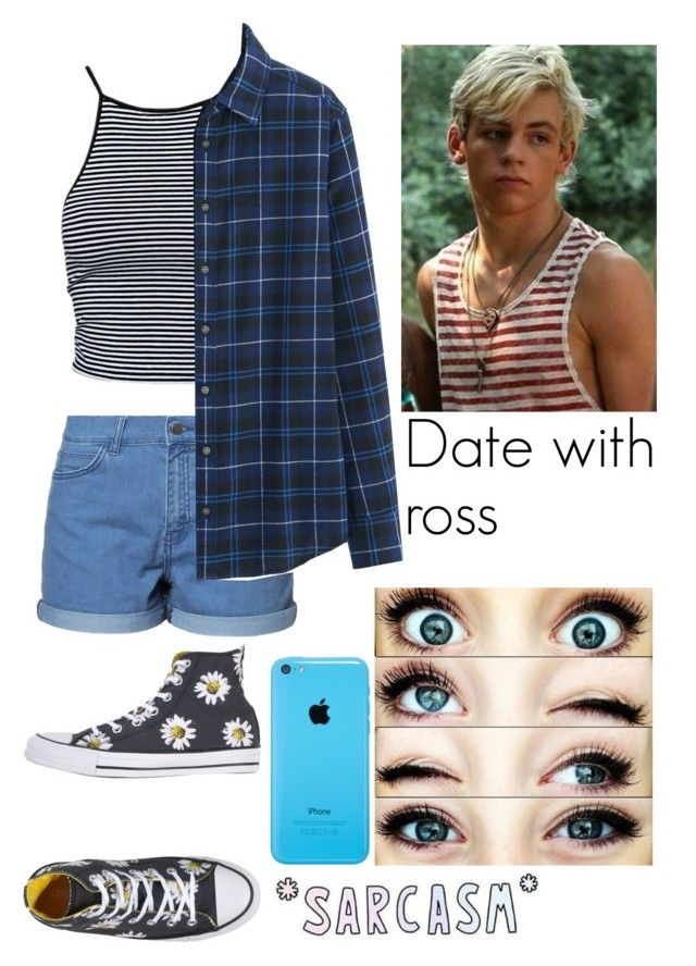 """""""Date with Ross (requested)"""" by rosita562 ❤ liked on Polyvore featuring Just Female, Estradeur, Uniqlo and Converse"""