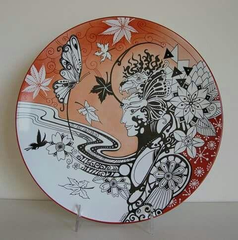 Prato. China PaintingSilk PaintingCeramic PlatesDecorative ... & 290 best Ceramics - Plate u0026 Platter images on Pinterest | Ceramic ...