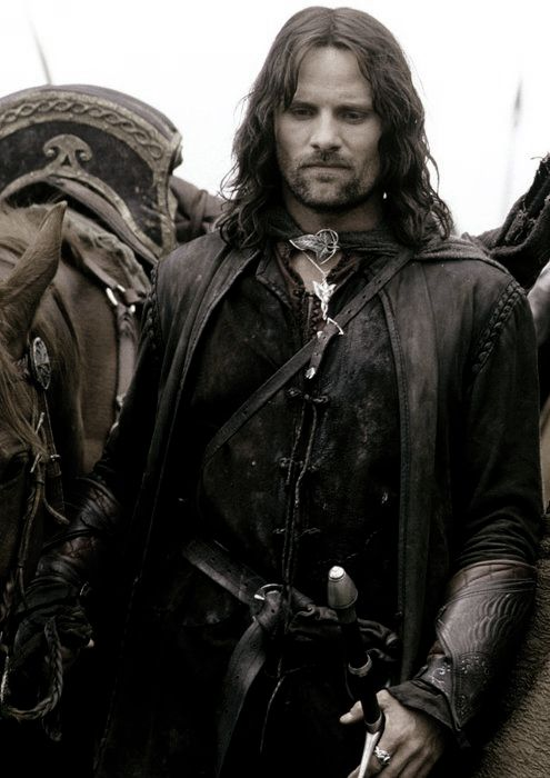 Aragorn - The Lord of the Rings - I want to have his children. Sure, Arwen is prettier, has royal and magical blood  but she has pointy ears and I  don't!