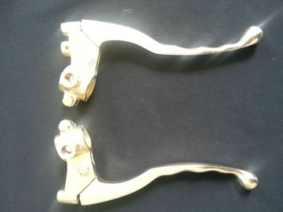 Safe-x Motorcycle Fairings And Mudguards-LEVER SET WITH YOKE ( BRASS ) ROYAL ENFIELD BULLET ZADON