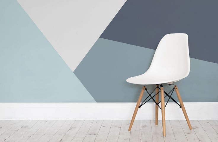 Best 25 geometric wall ideas only on pinterest for Geometric accent wall