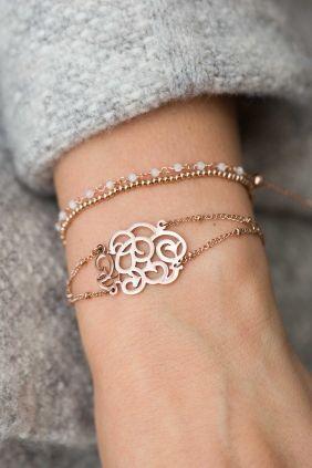 edelstahl armband rose vergoldet orientalisches symbol