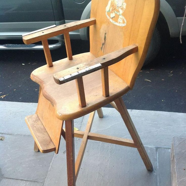 Hometalk :: Old Wooden Baby High Chair- What to Do?