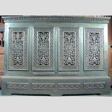 An original ornate cast iron radiator