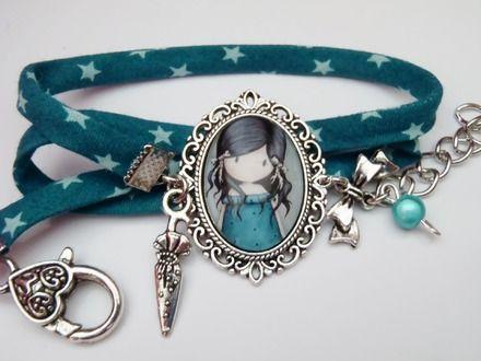 Bracelet liberty rétro * cabochon *  Bracelet par les-peches-d-eve