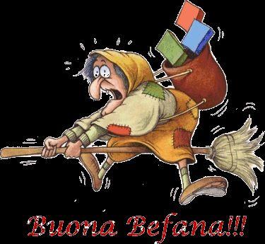 BEFANA - EPIFANIA -GIF & GLITTER - CheLaVitaContinua