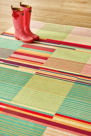 Bauhaus Bright: 1.5 X 2.3 metres. Printed nylon. Please note that, as these printed rugs are mad...