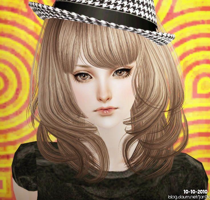 Sims 2 Hairstyles: Sims 2 (girl, Blonde, Wispy Hair, Beautiful)