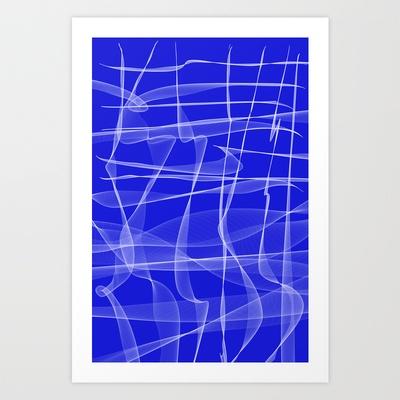 Blu  Art Print by Aziza Vasco - $17.68