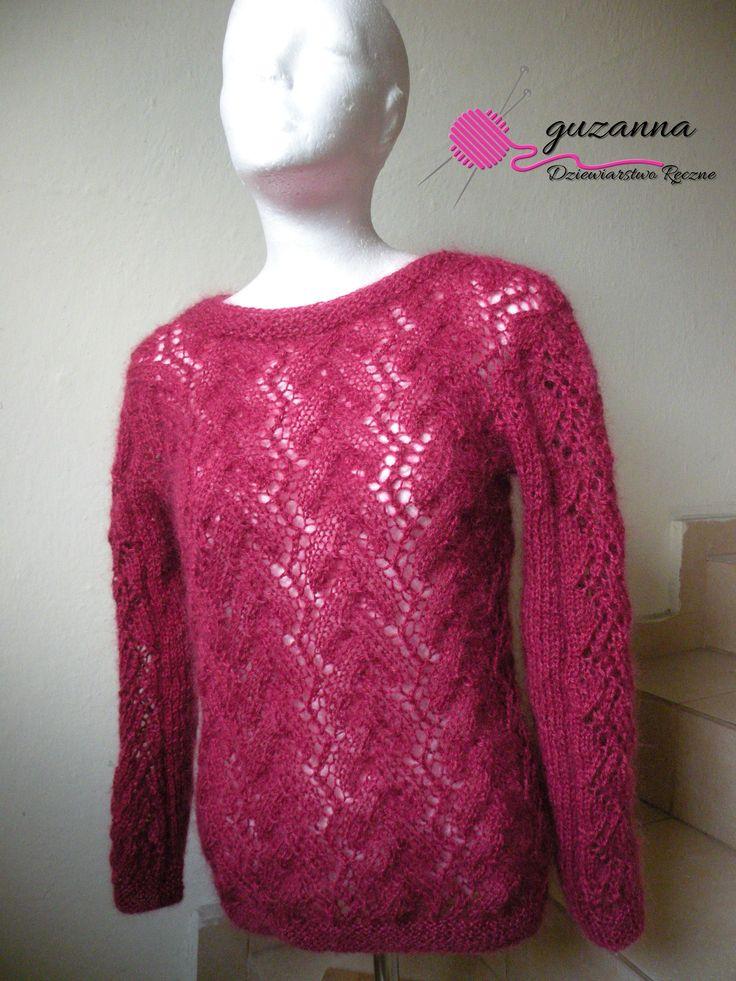 Sweterek z moheru