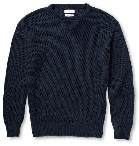 Richard JamesKnitted-Linen Crew Neck Sweater