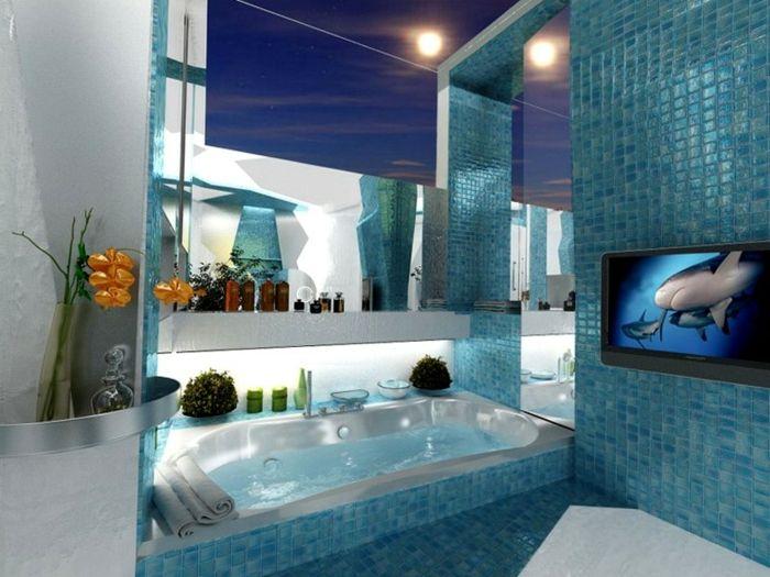 Badezimmer blau ~ Viac ako najlepších nápadov na e na tému badezimmer