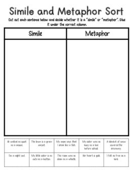 simile and metaphor examples pdf