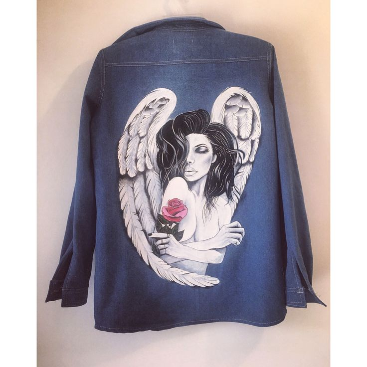 Painted jacket Guardian angel @expressmade