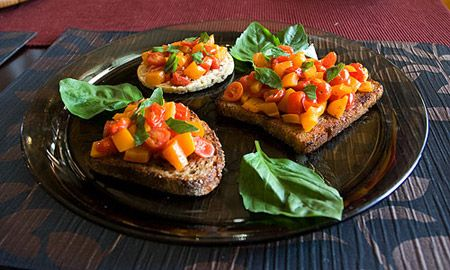 Colorful bruschetta recipe from the movie Julie & Julia!! *drooling*!