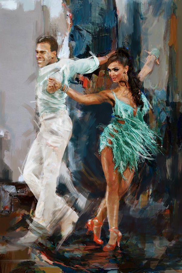 Jazz Painting - Tango 4 by Mahnoor Shah