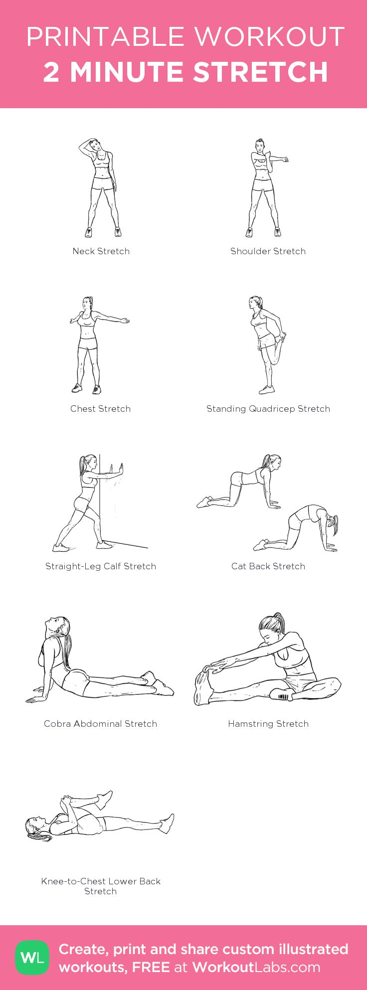 2 MINUTE STRETCH: my custom printable workout by @WorkoutLabs #workoutlabs #customworkout