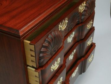 Fine Reproduction Block Front Chest of Drawers