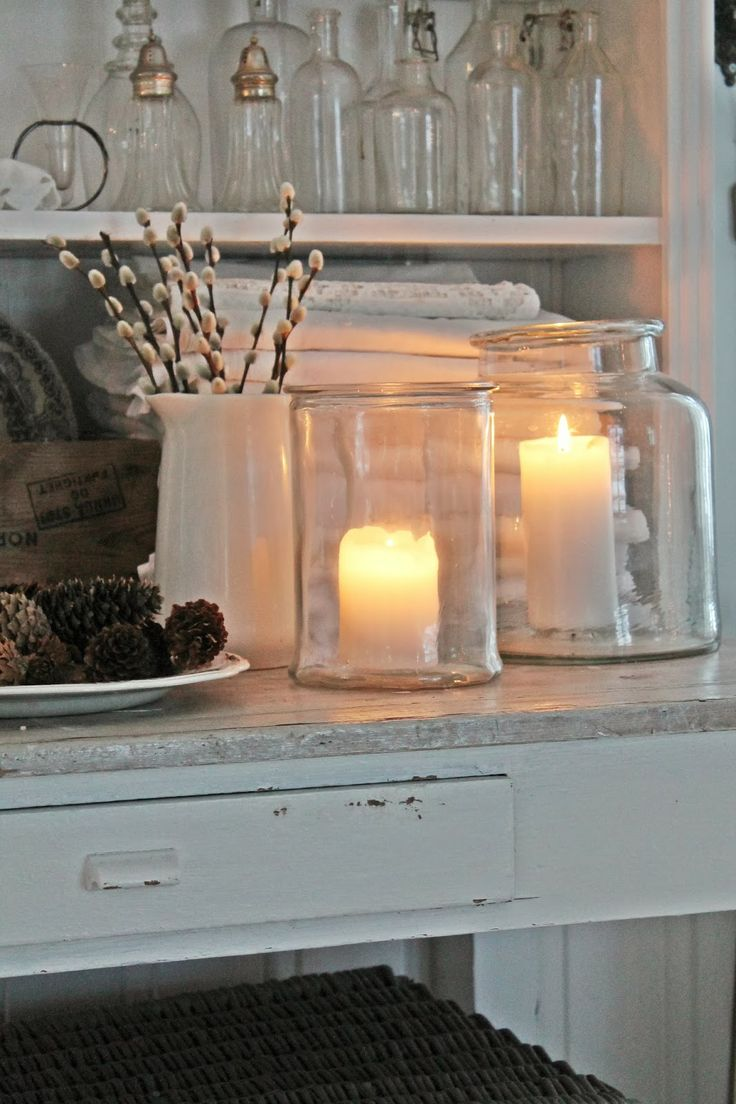 "Nice glass luminaries! Simple, but pretty. Would look nice with Candle Impressions Flameless 4"" Pillars"