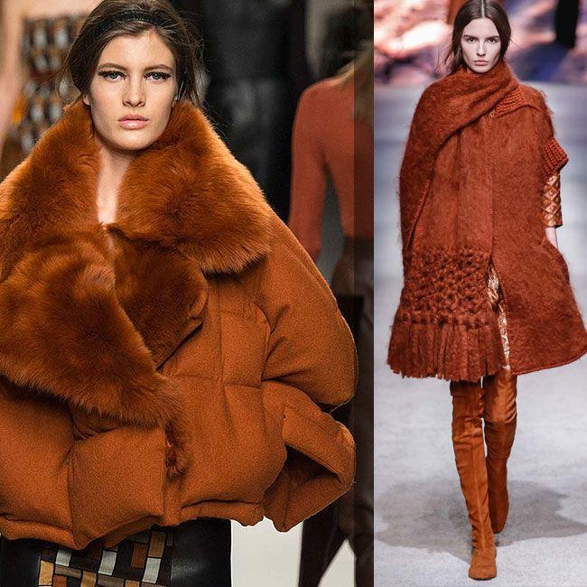модные цвета осень зима 2016 - оранжевый янтарный