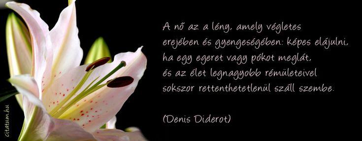 Denis Diderot idézet a nőkről.