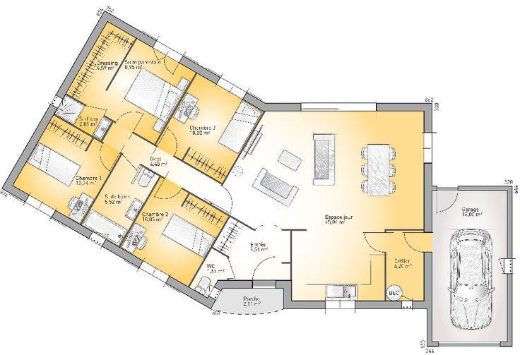 Les 25 meilleures id es de la cat gorie plan maison plein for Achat maison neuve villebon sur yvette