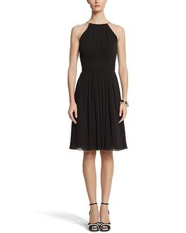 White House | Black Market Cut In Fit & Flare Dress