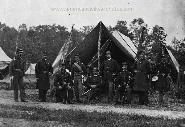 Gettysburg, Pennsylvania. Field and staff officers, 69th Pennsylvania. Date Created/Published: 1865 June. - American Civil War Battle of Gettysburg pictures - photos & art pics