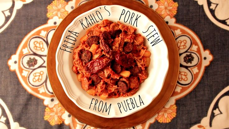 July 6th is Frida Kahlo's birthday, so we're celebrating by recreating her Pork Stew from Puebla. It's no wonder why this stew was served at her birthday fie...