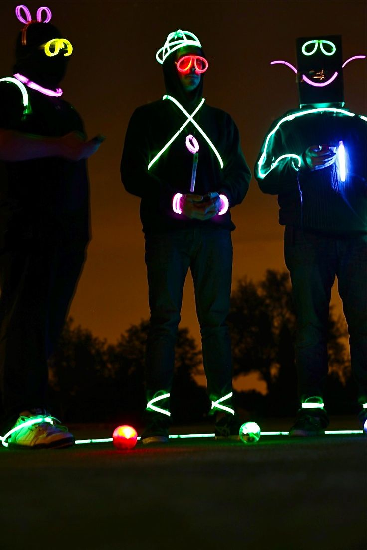 Glowing for Night Golf! http://glowproducts.com/nightgolf #NightGolf #GlowGolfSupplies | Repin by GolfBalloftheMonth.com