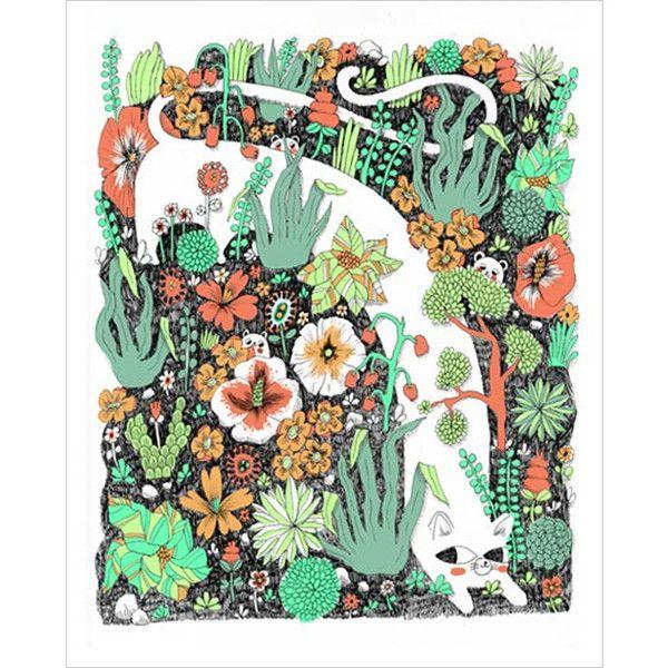 Ginette Lapalme Mew Mama Archival Print.  Magic Pony exclusive.